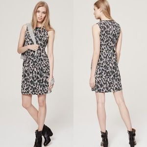 LOFT Abstract Leopard Sleeveless Dress